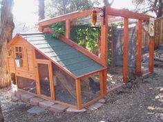 Use this chicken coop idea for cat enclosure