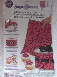 Wilton Sugar Sheet Scrolls cake & Cupcakes Decorating New Diy Home Crafts, Decor Crafts, Sheet Cakes Decorated, Sugar Sheets, Cupcakes Decorating, Wilton, European Home Decor, Baking Accessories, Cheap Home Decor
