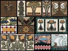 Art Deco style tile board by DuQuella Tile, USA (www.tiledecorative.com)
