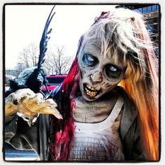 Halloween Shopaholic: Eerie, Creepy Life Size Zombie Girl Prop