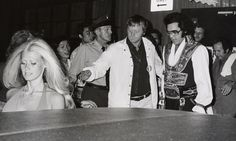 July 19, 1975 Elvis, Red West and Diana Goodman Leaving his hotel to Nassau Coliseum, Uniondale, New York