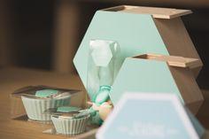 NaturalPlus 6-hoekig houten schuifdoosje mint | NaturalPlus hexagone en bois mint | NaturalPlus wooden hexagon box mint #bbcollections #NaturalPlus #woodenhouse #hexagon