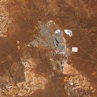 Kalgoorlie and the adjacent Super Pit Gold Mine, Western Australia. (Photo: Image captured by the Advanced Land Imager (ALI) on NASA's Earth satellite. Data provided courtesy of the NASA team) Mexico Vacation, Vacation Places, Western Australia, Australia Travel, Australia Information, Aerial Photography, Bouldering, Photo S, Travelling