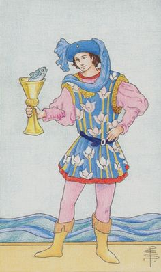 When you see the Page of Cups appear in a Tarot reading you are being given a message of love. The message may be that news of love or a new love is on its way to you, or you may be about to start something new. Where this card falls in a reading plays a large role in its meaning, but generally speaking this is a youthful love, a young love, or a renewed young love when you see this card. You might also be receiving news or a phone call about these matters as well.