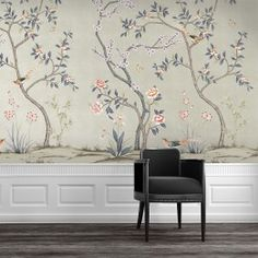 CHINOISERIE Garden Metallic Champagne Tempaper - self-adhesive, removable and reusable wallpaper Bedroom Wall, Bedroom Decor, Master Bedroom, Metal Wall Panel, Interior Design Colleges, Removable Wall Murals, Chinoiserie Wallpaper, Temporary Wallpaper, Champagne