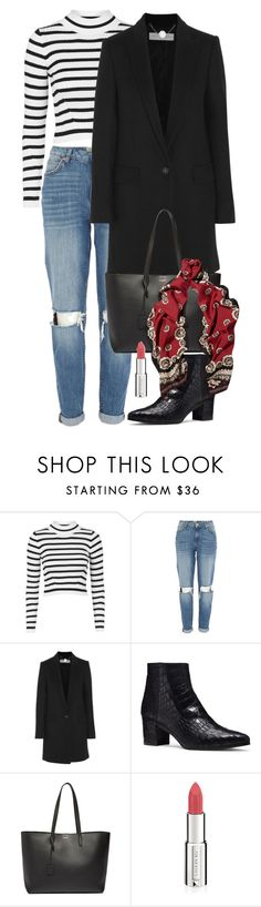 """""""Untitled #953"""" by arline09 ❤ liked on Polyvore featuring Topshop, River Island, STELLA McCARTNEY, Yves Saint Laurent, Givenchy, Valentino, women's clothing, women, female and woman"""