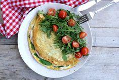 Omelett med tubeost.