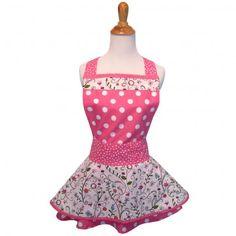 Pink Spring Vintage Apron