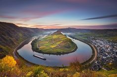 The Moselle River, Bremm, Germany