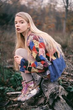 Photo by Eleanor Hardwick-90's style crochet sweater and boots