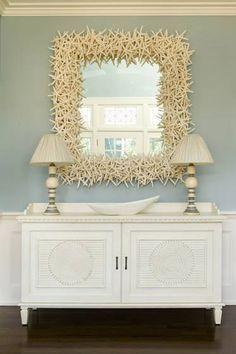 Beautiful...starfish mirror for my future beach home