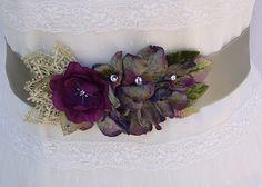 Bridal Sash-Wedding Sash in Violet, Plum And Moss With Vintage Lace And Crystals, Bridal Belt, Wedding Dress Sash by AGoddessDivine on Etsy https://www.etsy.com/listing/171101730/bridal-sash-wedding-sash-in-violet-plum
