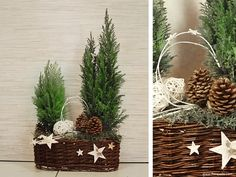 Výsledek obrázku pro dekoracje na boże narodzenie jak zrobić Christmas Floral Arrangements, Christmas Centerpieces, Christmas Decorations, Holiday Decor, Christmas Mood, Outdoor Christmas, Christmas Wreaths, Christmas Inspiration, Handmade Christmas