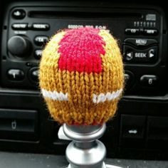 Iron Man Style Gear Knob Beanie Hat by NutkinsKnits on Etsy
