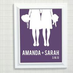 Personalized Wedding Gift  Same Sex Wedding by AppleBlossomPrint, $22.00