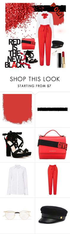 """""""Be Bold Be Brave Go Red"""" by oliver-dope ❤ liked on Polyvore featuring Tim Holtz, Nasty Gal, Givenchy, A.L.C., Miss Selfridge, Gucci and Henri Bendel"""