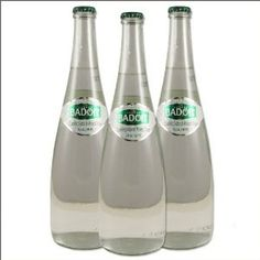 Badoit Sparkling Water - The Set of 12 x 750ml Glass Bottle (1 Case) by Badiot Price: $54.95 ($4.58 / Item)  Badoit is a light natural sparkling mineral water and one of the finest mineral waters you can find. This gourmet's mineral water is seen on the tables of most famous restaurants in France as an accompaniment to good food and wine. As Badoit water pushes its way up from a deep water table through a 500-meter fissure in the local granite