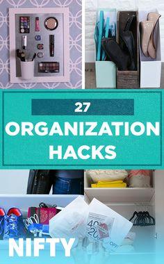 27 Organization Hacks