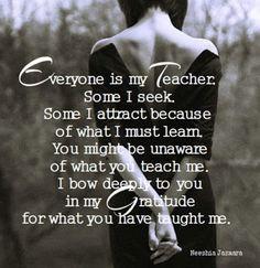 Advaita: Iedereen is een leraar voor ons.
