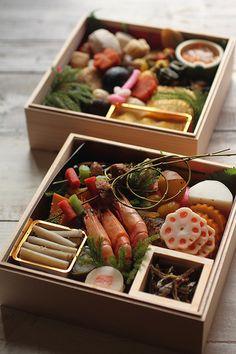Osechi (new year celebration lunch box) stylish japanese food