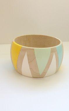 Pisky Cove Wooden Bangle by French76 on Etsy