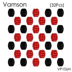 Vamson 32pcs/set Flat Surface Mount Base 3M Sticker Adhesive For Gopro Hero 5 4 3 Xiaomi Yi SJ400 Sport Camera VP106N