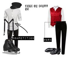 Yuri On Ice OC by trippy-peaches on Polyvore featuring art