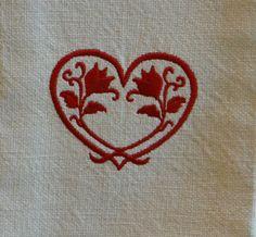 Tulip Heart Valentine's Day Cotton Dish by TheBridesHopeChest, $11.00