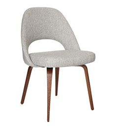 Saarinen Conference Chair In Hallingdal Fabric Upholstery & Oak Stained Walnut Legs - Office Chairs - Chairs & Stools - Furniture - The Conran Shop UK