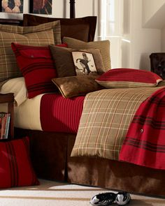 """""""High Road"""" Bed Linens at Horchow.  Love the Tartan. #Horchow"""