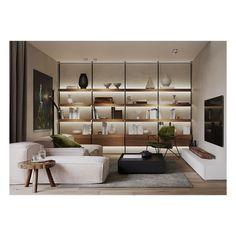 "47 aprecieri, 4 comentarii - S T O A (@stoa.art) pe Instagram: ""AD House - Interior Design . Design & Visual by S T O A . #renderlovers #render #interiors…"" Home Interior Design, Design Design, Shelving, Divider, Interiors, Room, House, Furniture, Instagram"