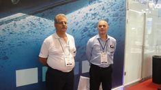 Sr. José Freire (Depto. Comercial Manitec Grupos Geradores) e o Projetista Sr. Luis Batistute visitando a FIEE (28ª Feira Internacional da Indústria Elétrica, Energia e Automação) realizada no Pavilhão de Exposições do Anhembi