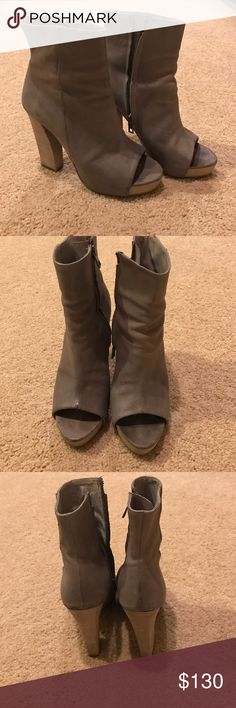 Gray All Saints booties These beauties are in great condition and super stylish and comfortable All Saints Shoes Ankle Boots & Booties