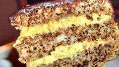 Cel mai bun tort pe care l-am mâncat vreodată Romanian Desserts, Romanian Food, Sweets Recipes, Cake Recipes, Cooking Recipes, Best Cake Flavours, Good Food, Yummy Food, Walnut Cake