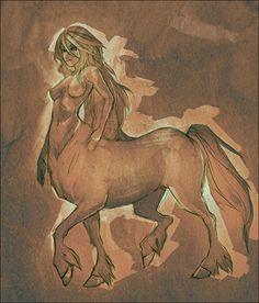 Centaur by ~doven Fantasy Character Design, Character Concept, Character Inspiration, Character Art, Dungeons And Dragons Characters, Fantasy Characters, Magical Creatures, Fantasy Creatures, Sirens