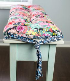 DIY Patchwork Piano Bench (or anywhere) Cushion! {free tutorial} — SewCanShe | Free Sewing Patterns for Beginners