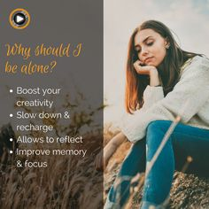 Have you ever taken the time to be fully alone? Are you scared of being alone? #solitude #benefits #boost #people #alone #creativity