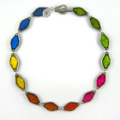 Diamond Multi-Colour Necklace