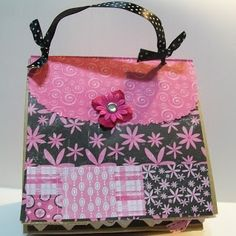 Craft Junkie Too: Paper Bag Scrapbook Purse & Video #60