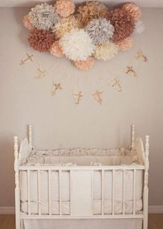 12 Ideas To Decorate A Nusery Room With Mobile Paper Lanterns Kidsomania Peach Baby Nursery