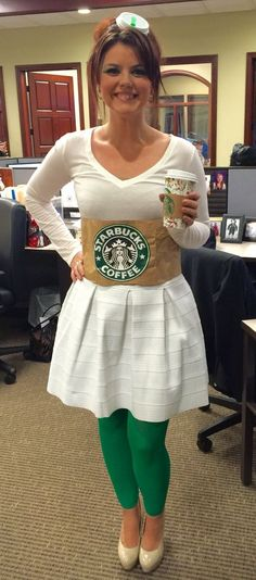 Starbucks Drink | 26 DIY Halloween Costume Ideas for Teen Girls