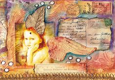 Beautiful mail art envelope