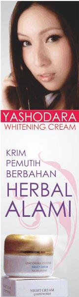 Yashodara Whitening Cream Pemutih wajah yang aman, nyaman, telah terbukti sangat berkhasiat, dan terdaftar di Balai POM RI