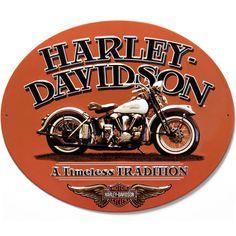 Harley-Davidson Timeless Oval Tin Sign