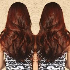 dark copper brown hair
