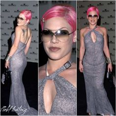 On This Day in #PinkHistory 21st February 2001 @Pink attended the BMG Grammy party