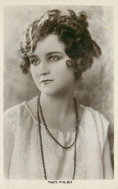 Beautiful Brunette Mary Philbin Edwardian Actress Postcard
