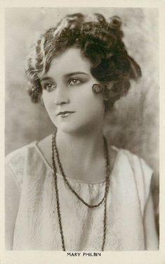 Beautiful Brunette Mary Philbin Edwardian Actress Postcard