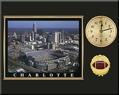 Carolina Panthers Team Stadium Photo Inserted In A Gold Slide In Frame & Mounted On A Plaque With Arabic Clock -Awesome & Beautiful-Must For Any Fan! Art and More, Davenport, IA http://www.amazon.com/dp/B00NIONSX6/ref=cm_sw_r_pi_dp_qEIuub0CS3BYR
