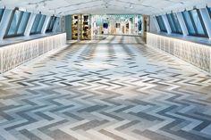 On the Rise: New Builds in Tokyo | Seibu Shibuya department store by Nendo. #interiors #design #interiordesignmagazine #projects #retail #flooring